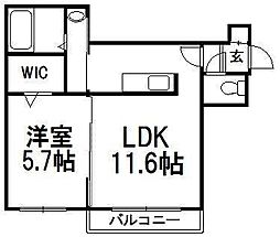 A BOND west[4階]の間取り