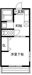 シティハイムチハルIII[105号室]の間取り