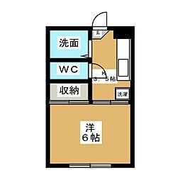 石川ハイツ[1階]の間取り