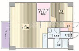 ビラ土山[5階]の間取り
