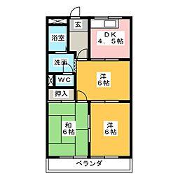 ロイヤルコープM[2階]の間取り