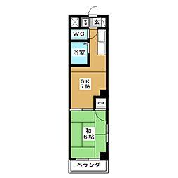 ハイツエクセル[4階]の間取り