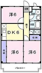 兵庫県姫路市西今宿2丁目の賃貸マンションの間取り