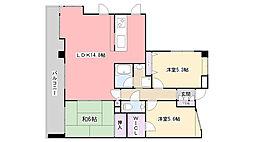 ラ・フォレ21[5階]の間取り