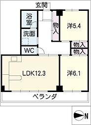 ハウスアベニュー[11階]の間取り