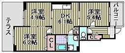 サニーパーク3[105号室]の間取り