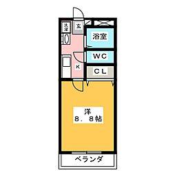 伊藤ハイツ大割[2階]の間取り