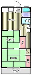 コーポ吉岡[105号室]の間取り