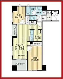 東京都台東区竜泉2丁目の賃貸マンションの間取り