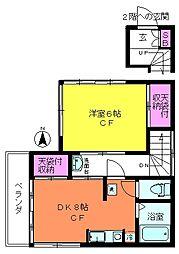 セマンス ナカジマ[2階号室]の間取り