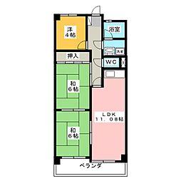 第3ハイツ聖[2階]の間取り