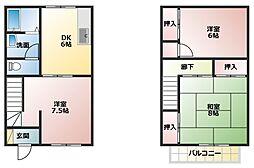 [タウンハウス] 兵庫県明石市大久保町西島 の賃貸【/】の間取り