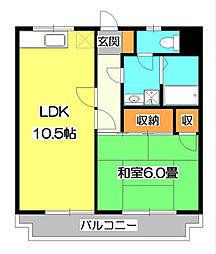東所沢グリーンハイツ1号棟[2階]の間取り