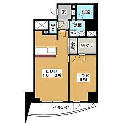 Blancasa久屋大通[3階]の間取り