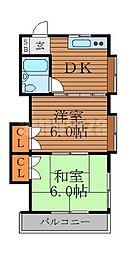 コーポ渡辺[2階]の間取り