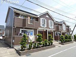 三重県松阪市中道町の賃貸アパートの外観