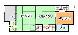 [テラスハウス] 大阪府東大阪市若江東町1丁目 の賃貸【/】の間取り