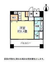ハーヴェスタ江坂[3階]の間取り