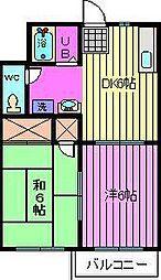 コーナーハウスC棟[1階]の間取り