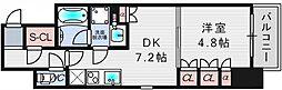 ザ・パークハビオ堂島[10階]の間取り