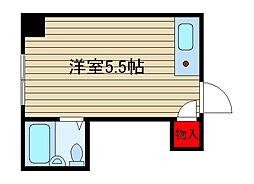 堀江グリーンハイツ[415号室]の間取り