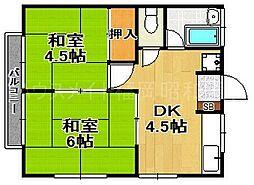 木下アパート[2階]の間取り