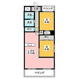 サンクチュアリ小幡[4階]の間取り