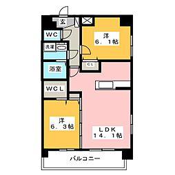 Mode EightI[4階]の間取り