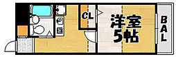兵庫県川西市美園町の賃貸マンションの間取り
