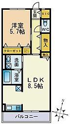 パークハイム横浜鶴見[303号室]の間取り