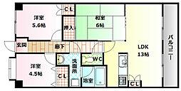 メルヴェーユ桃山台[2階]の間取り