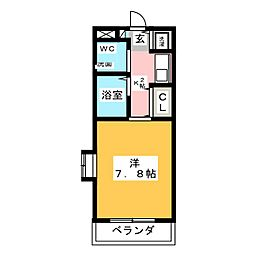 白山マンション[2階]の間取り