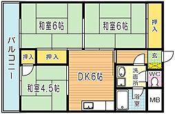 木藤ビル[305号室]の間取り