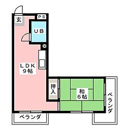 八雲ハイツ[2階]の間取り