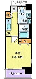 新交通ゆりかもめ 芝浦ふ頭駅 徒歩6分の賃貸マンション 2階1Kの間取り