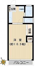 奥田マンション[203号室]の間取り