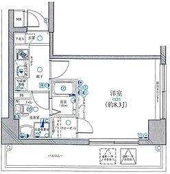 レグラス横浜西口[707号室]の間取り