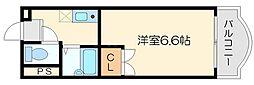 豊新芙蓉ハイツ[5階]の間取り