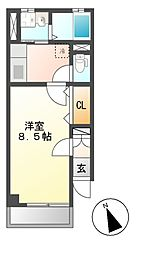 サンクメゾン[2階]の間取り