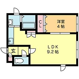 北海道札幌市中央区南三条西22丁目の賃貸マンションの間取り