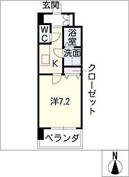 クレシェール大須[8階]の間取り