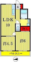 タケイマンション[2階]の間取り