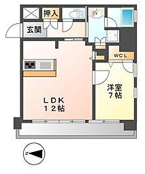 FIRST RESIDENCE SAKAE(ファースト)[4階]の間取り