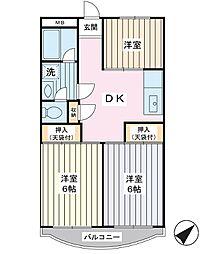 ストークマンションダイゴ[2階]の間取り