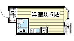 サンヴィラ六甲道パート2[2階]の間取り