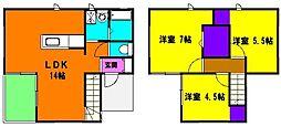 [一戸建] 静岡県浜松市南区三島町 の賃貸【静岡県 / 浜松市南区】の間取り