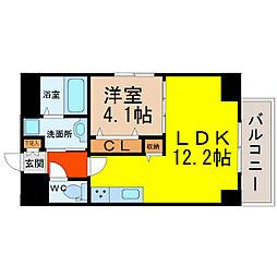 GRANDUKE新栄[3階]の間取り