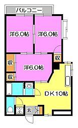 天竜ビル[6階]の間取り