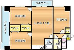 御開第5晴和ビル[3階]の間取り