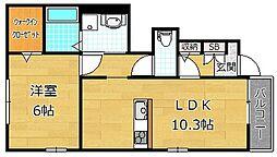 デュラカーサ兒島[1階]の間取り
